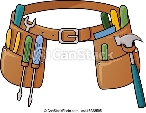 outillage, illustration courante, ceinture - csp16238595