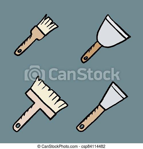 outils, emmagasiner tableau - csp84114482