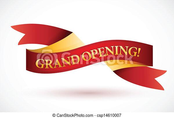 ouverture, onduler, rouges, grandiose, bannière, ruban - csp14610007