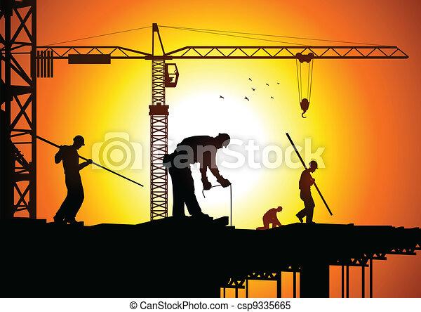 ouvrier construction - csp9335665