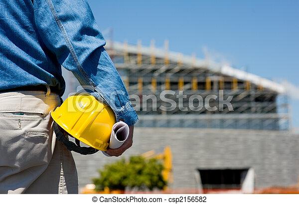 ouvrier construction, site - csp2156582