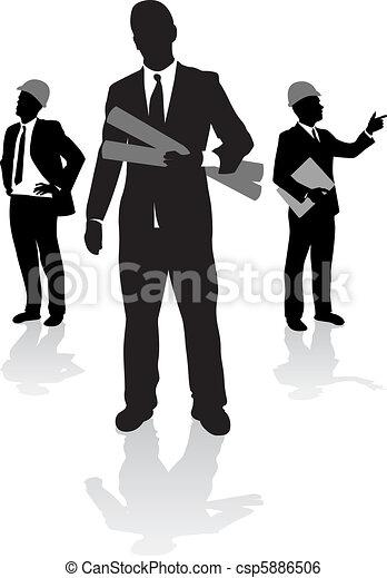 ouvriers, construction - csp5886506