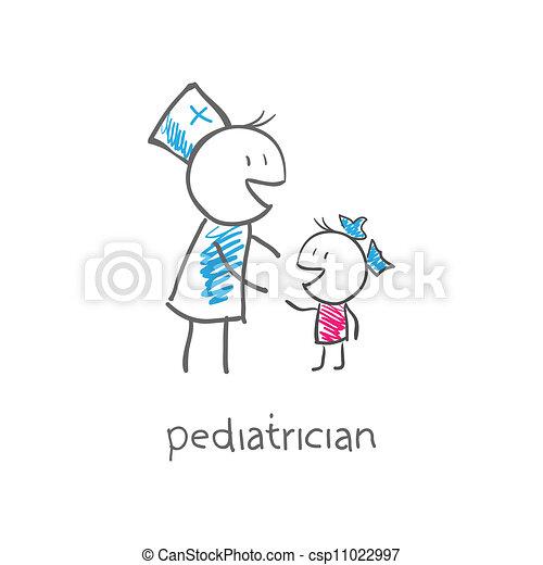 pédiatre, enfant - csp11022997