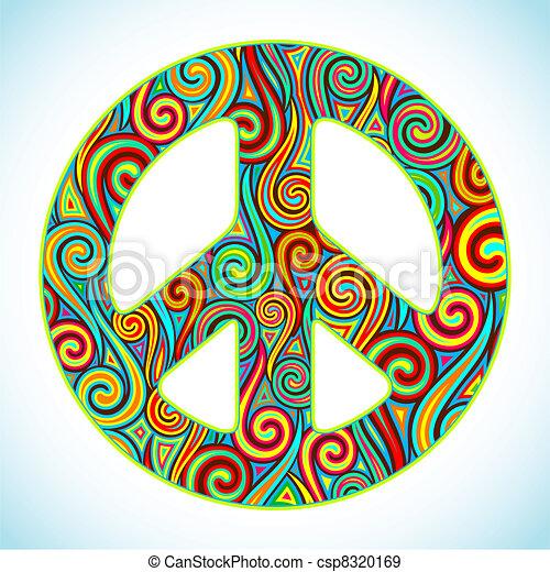 paix, coloré - csp8320169