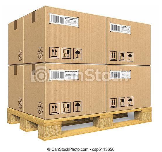 palette, boîtes, carton - csp5113656