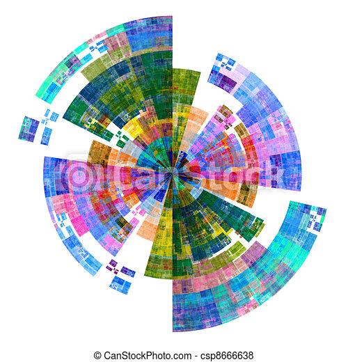 palette, disque, coloré - csp8666638