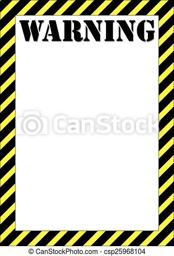 panneau avertissement - csp25968104