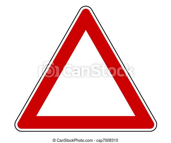 panneau avertissement - csp7008310