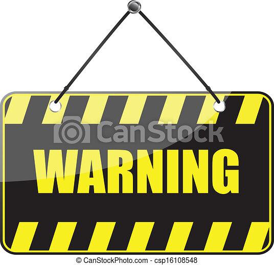 panneau avertissement - csp16108548
