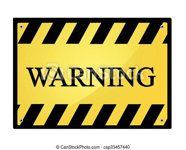 panneau avertissement - csp33457440