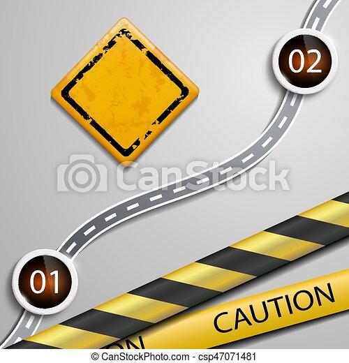 panneau avertissement - csp47071481