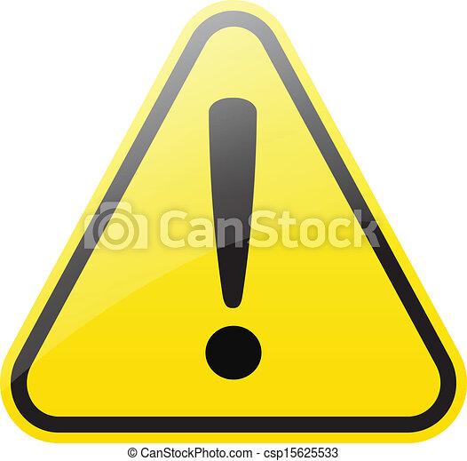 panneau avertissement - csp15625533
