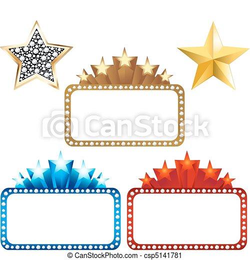 panneaux affichage, étoiles, vide - csp5141781