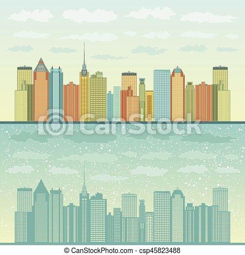 panorama, villes - csp45823488