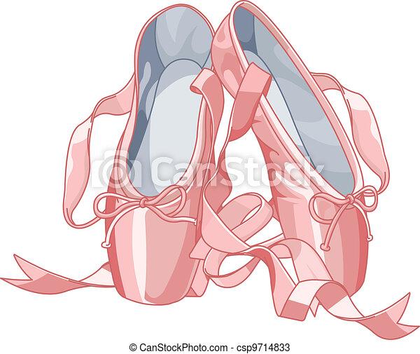 pantoufles, ballet - csp9714833
