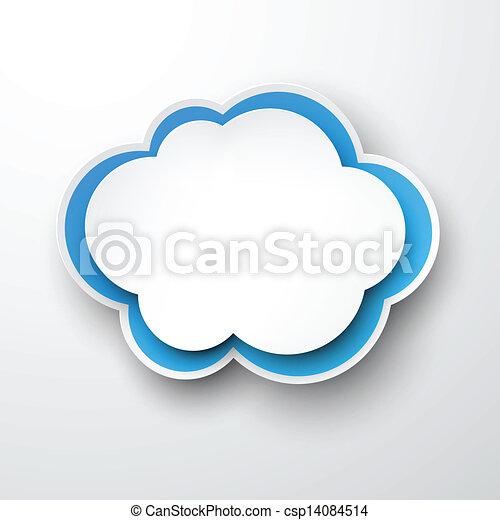 papier, cloud., white-blue - csp14084514