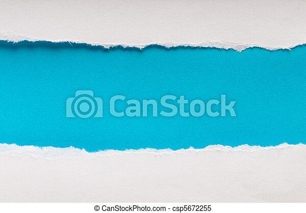 papier, message, déchiré, ton, espace - csp5672255