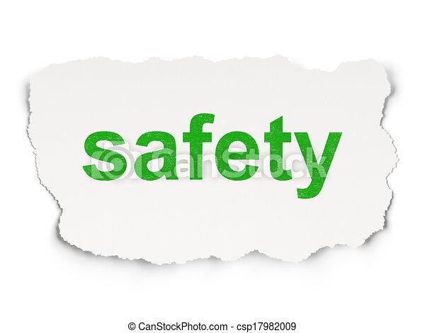 papier, sûreté protection, concept:, fond - csp17982009