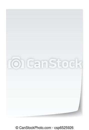 papier, vecteur - csp6525926