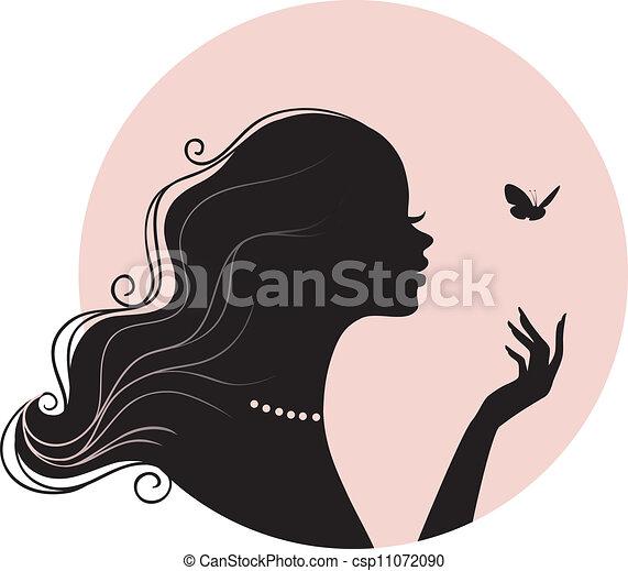 papillon, femme, beauté - csp11072090