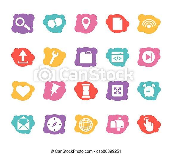 paquet, icônes, ensemble, interface, utilisateur - csp80399251