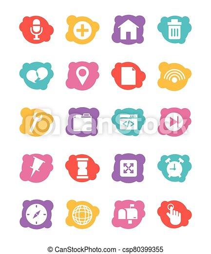 paquet, icônes, ensemble, interface, utilisateur - csp80399355