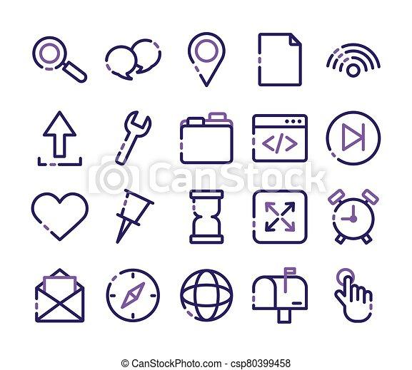 paquet, icônes, ensemble, interface, utilisateur - csp80399458