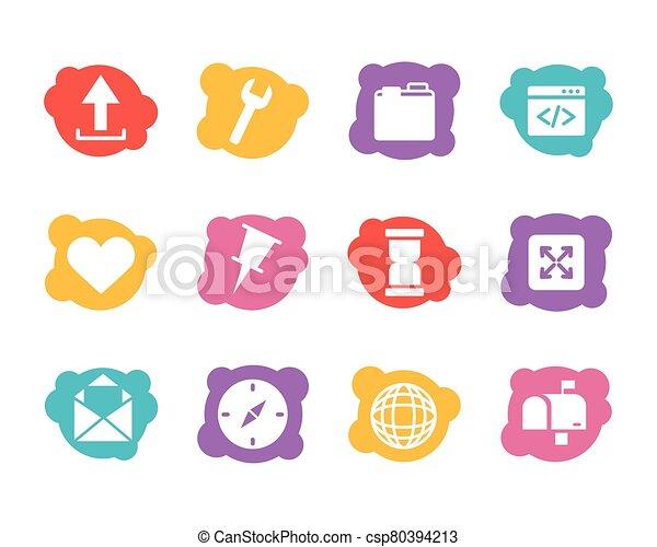 paquet, icônes, ensemble, interface, utilisateur - csp80394213