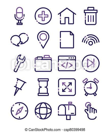 paquet, icônes, ensemble, interface, utilisateur - csp80399498