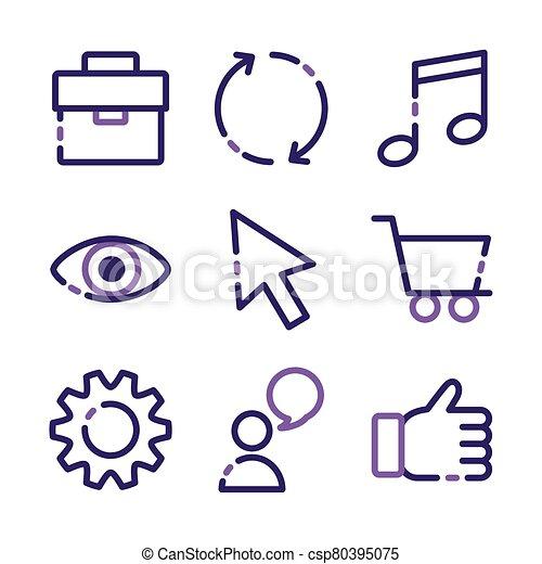 paquet, icônes, ensemble, interface, utilisateur - csp80395075