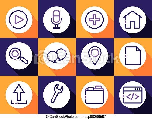 paquet, icônes, ensemble, interface, utilisateur - csp80399587