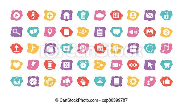 paquet, icônes, ensemble, interface, utilisateur - csp80399787