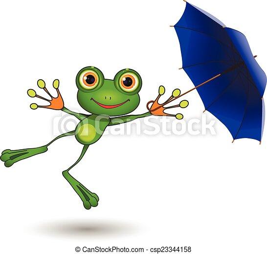 parapluie, grenouille - csp23344158