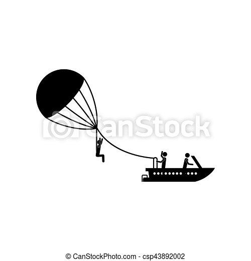 parasailing, sport, extrême - csp43892002