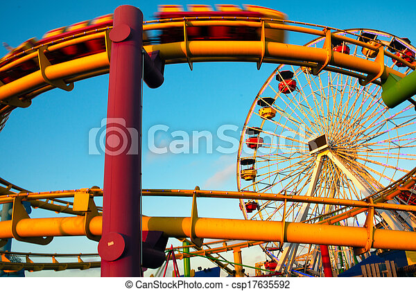 parc, promenades, jetée, amusement - csp17635592