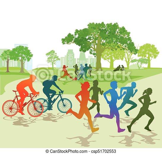parc, sport, im - csp51702553