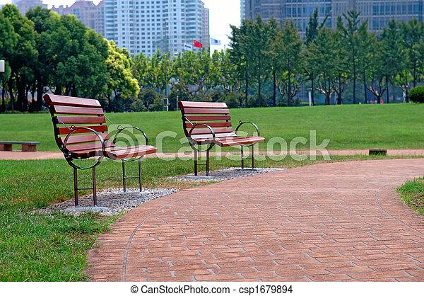parc ville, manière, promenade - csp1679894