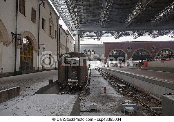 passager, station, train - csp43395034