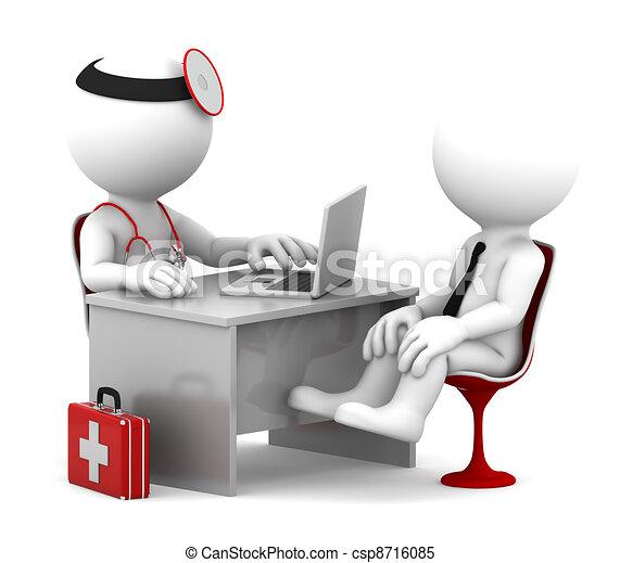 patient, bureau, docteur, monde médical, conversation, consultation. - csp8716085