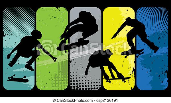 patineurs - csp2136191