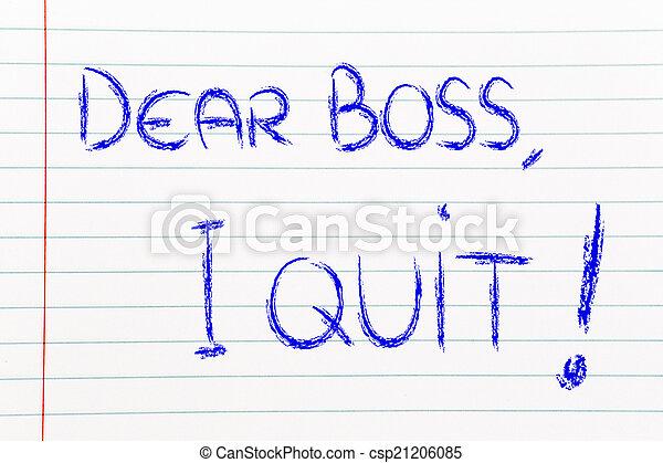 patron, malheureux, quit:, employé, cher, message - csp21206085