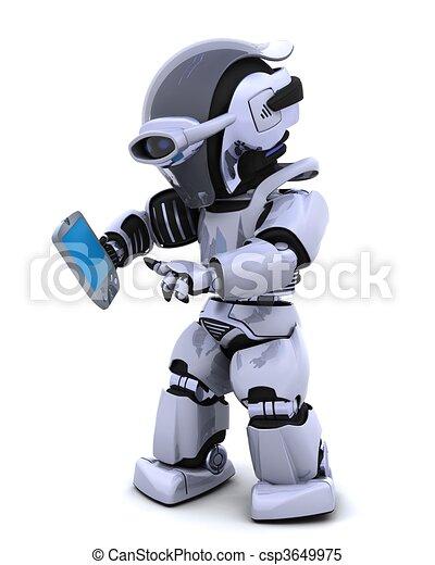 paume, robot, pilote - csp3649975