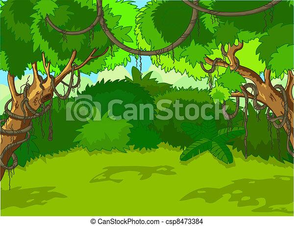paysage, forêt, exotique - csp8473384