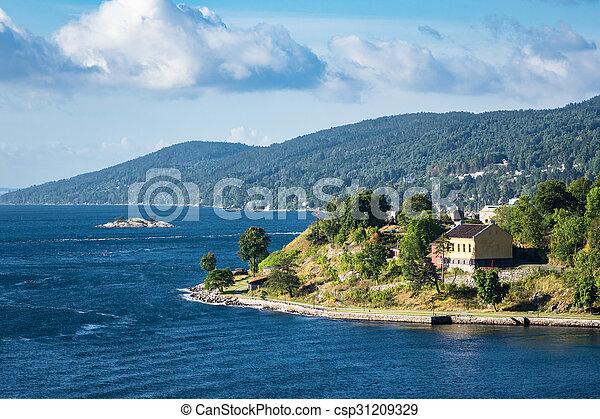 paysage, oslofjord - csp31209329