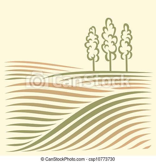 paysage rural - csp10773730