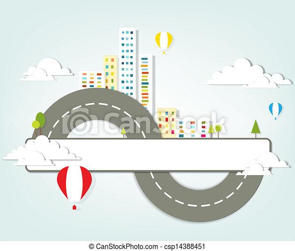 paysage urbain - csp14388451