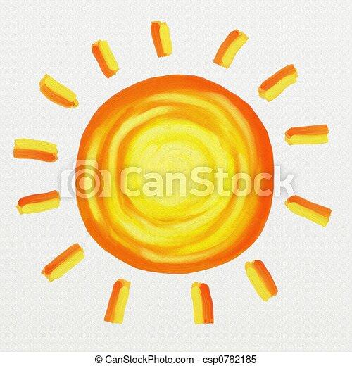 peint, soleil - csp0782185