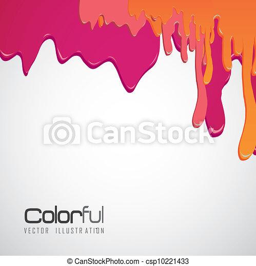 peinture, égouttement - csp10221433