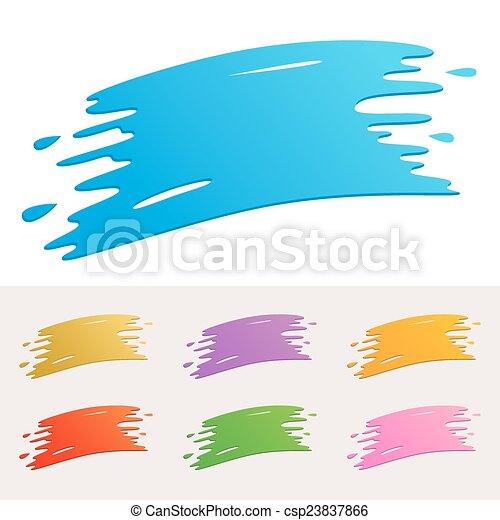 peinture, coloré, éclaboussure - csp23837866