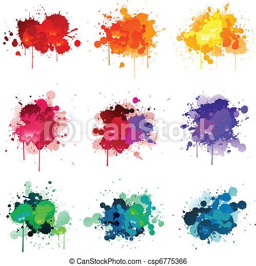 peinture, splat - csp6775366
